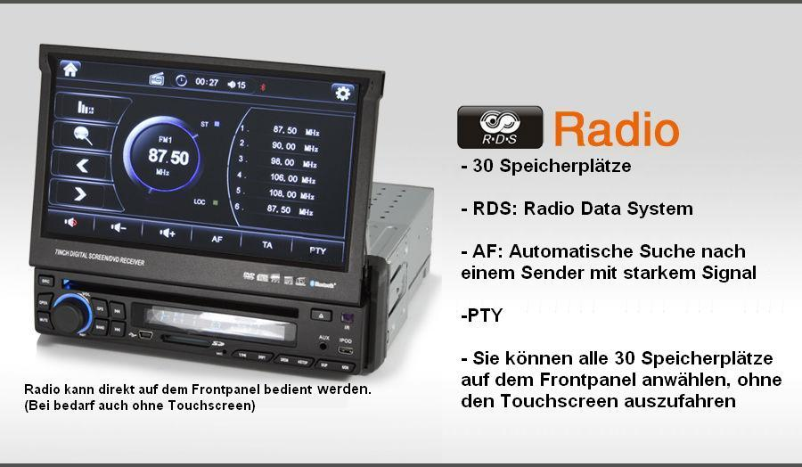 1 din autoradio mit internet dvb t dvd navi bluetooth wifi. Black Bedroom Furniture Sets. Home Design Ideas